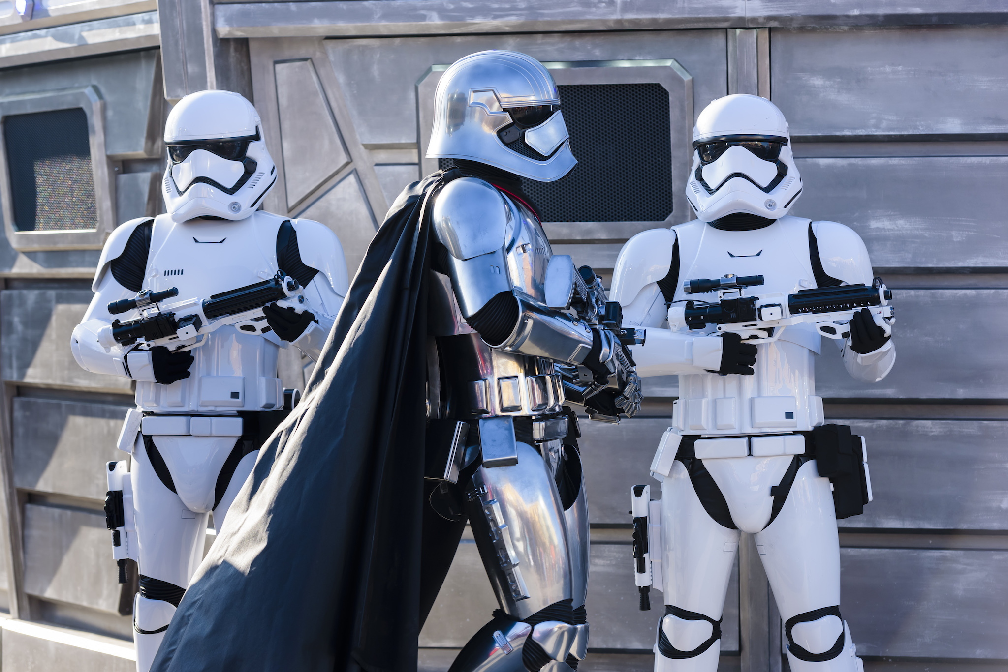 Do not reuse. Stormtroopers - Disneyland Paris, Legends of the Force campaign.