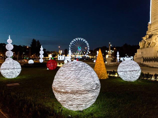 Luzes de natal no Marquês de Pombal