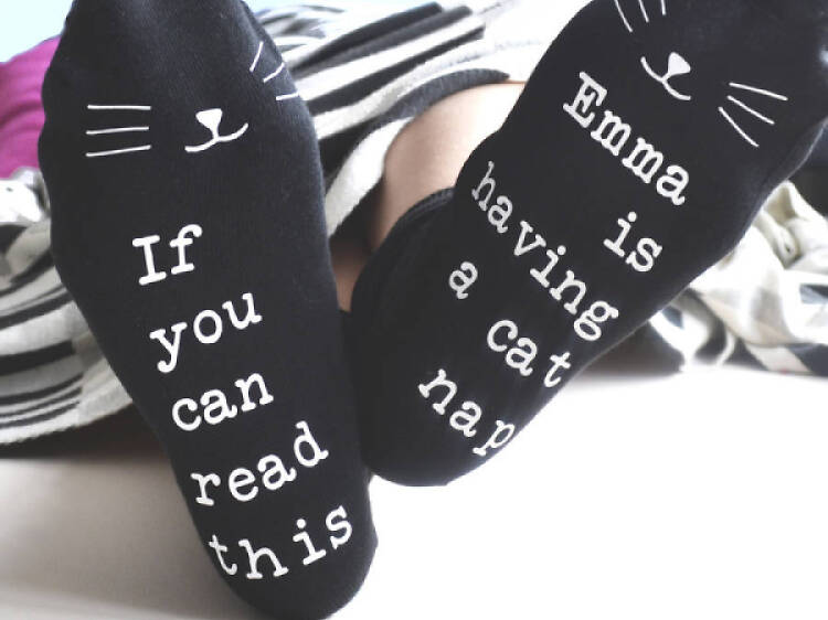 Personalised socks from Gifts Less Ordinary