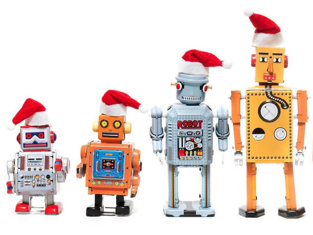 Robots navideños
