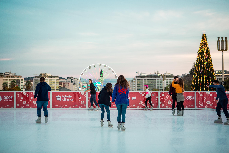 Pistas de gelo em Lisboa para deslizar no Inverno