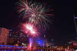 Melbourne Skyline on New Years Eve