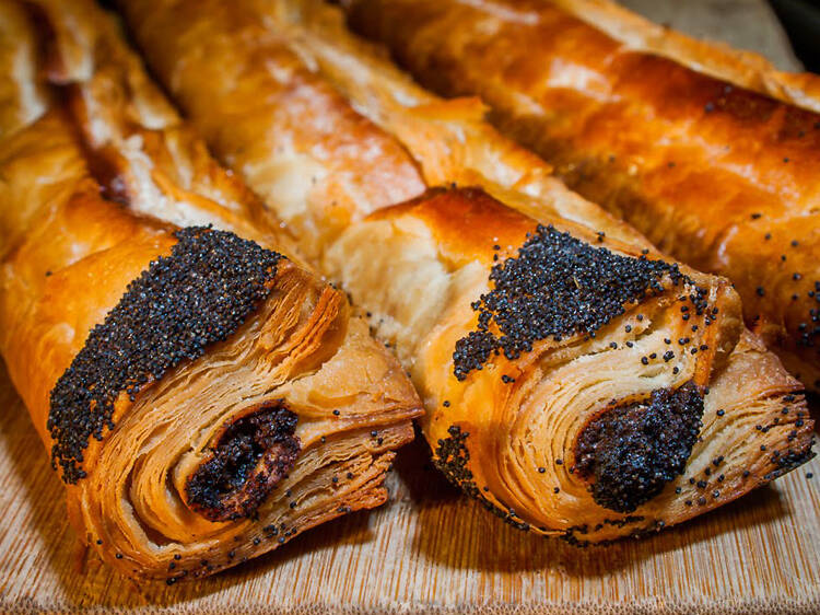 Poppy-seed strudel at Breads Bakery