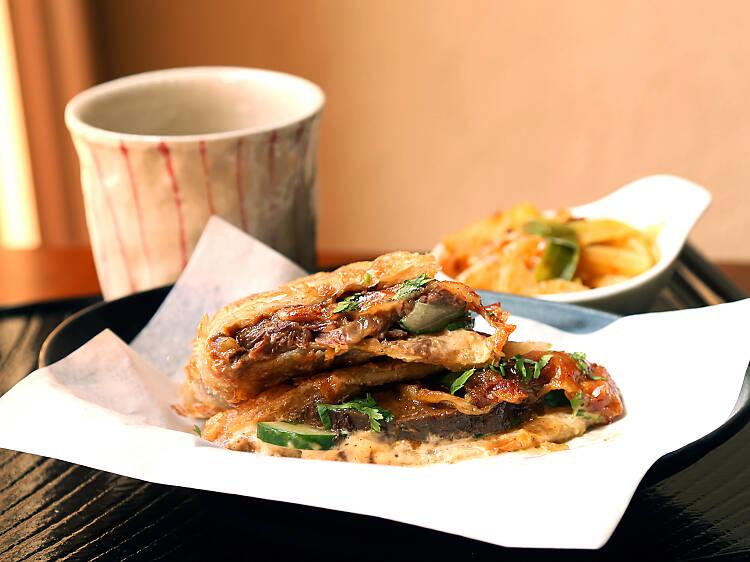JB Melt Sandwich at Little Tong Noodle Shop