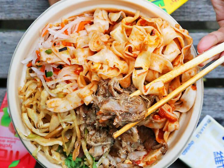 Tomato Pork Noodles at Junzi Kitchen
