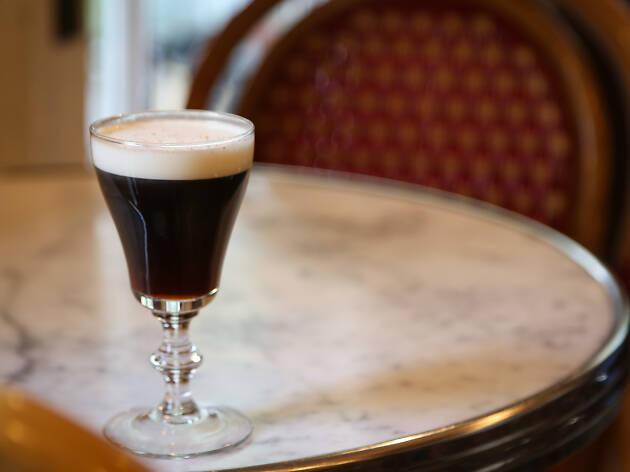 Irish coffee cocktail at Big Bar in Los Angeles Los Feliz