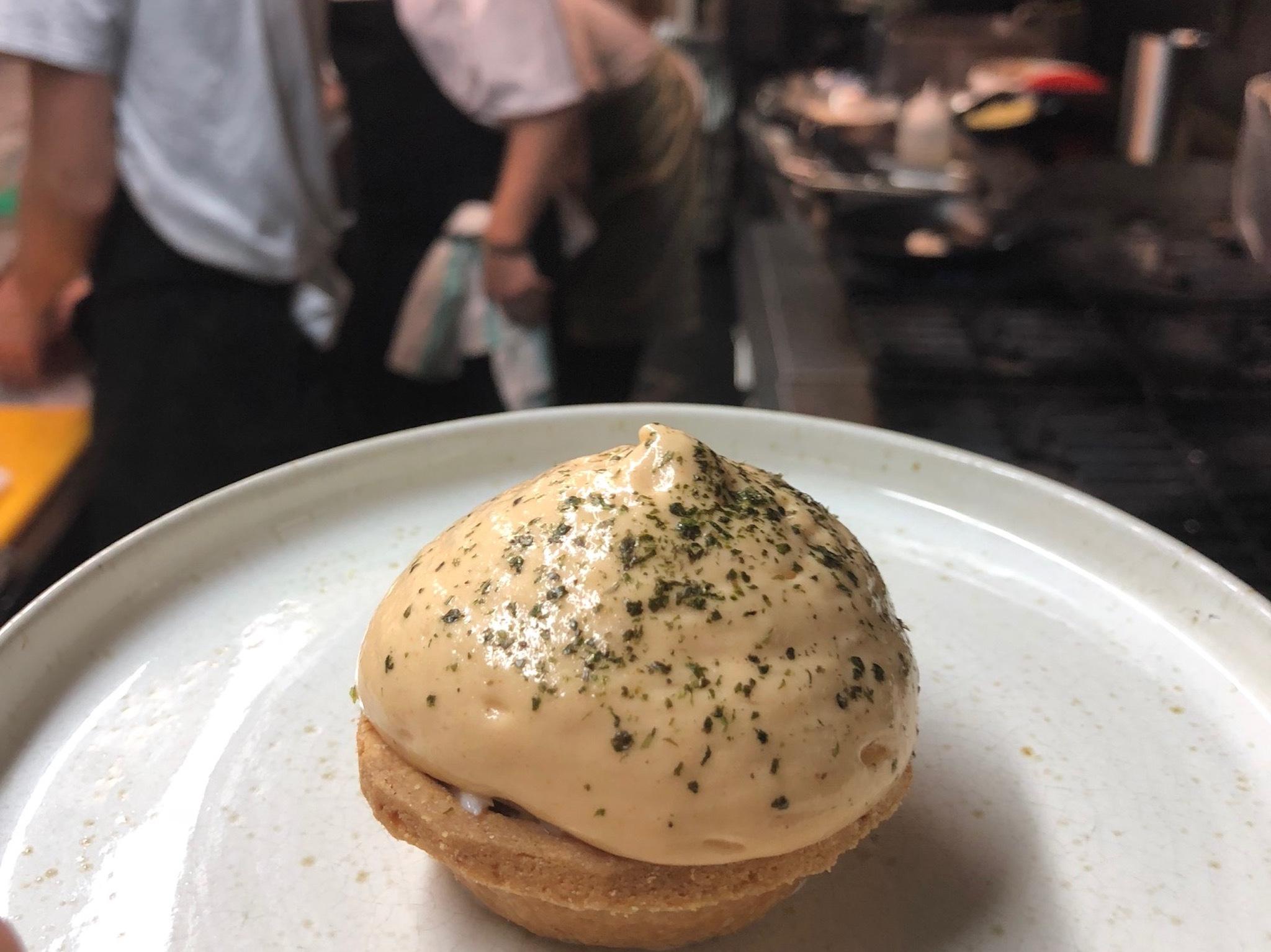 James Cochran white crab tartlet