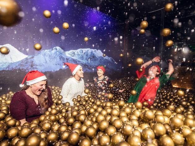 Shoreditch is getting a snow globe pit filled with thousands of golden balls