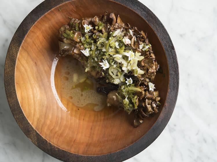 Wood-roasted mushrooms at Sunday in Brooklyn