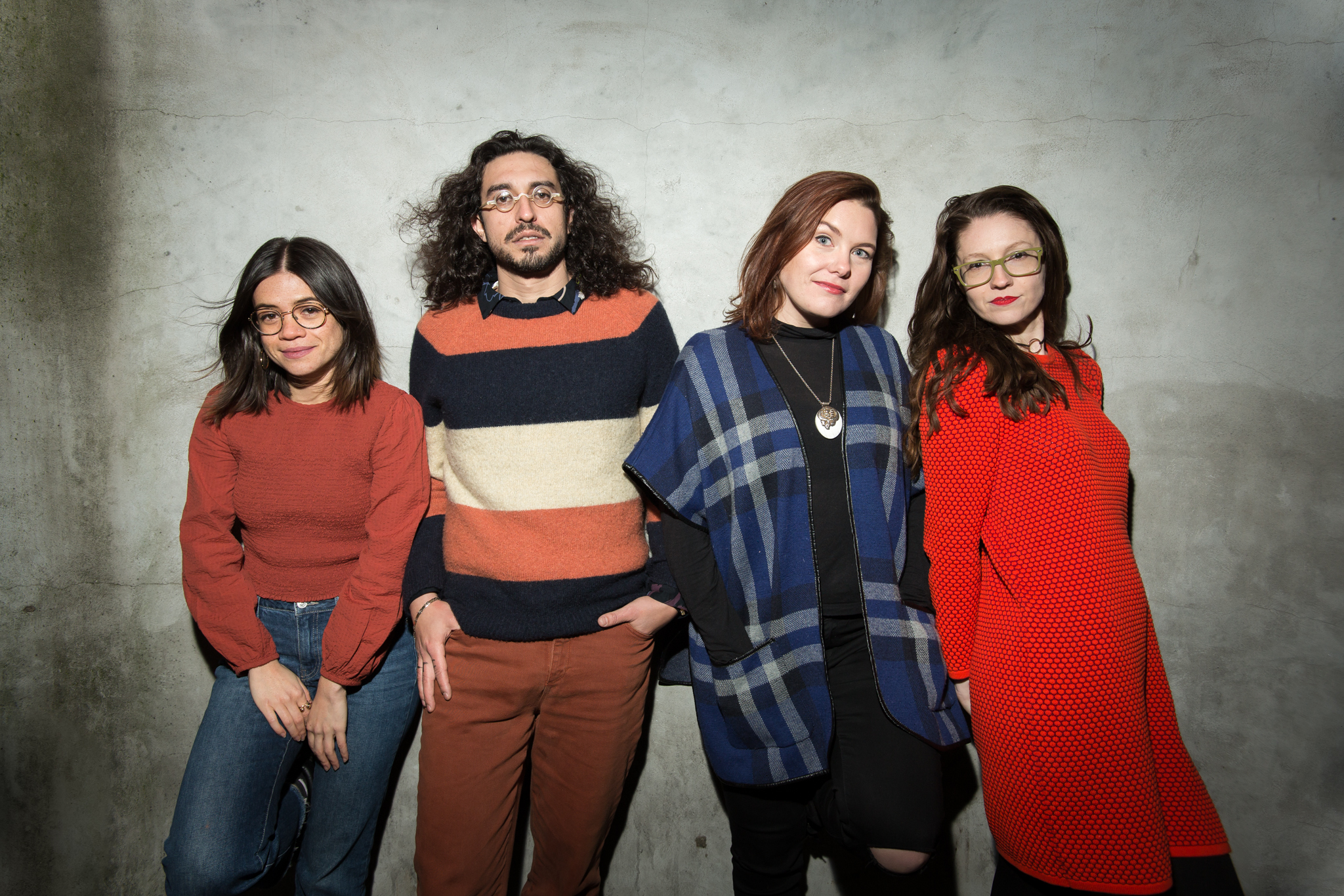 Julia Shiplett, Ben Wasserman, Emily Winter and Carolyn Busa