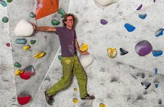 Martijn at 9 Degress rock climbing gym