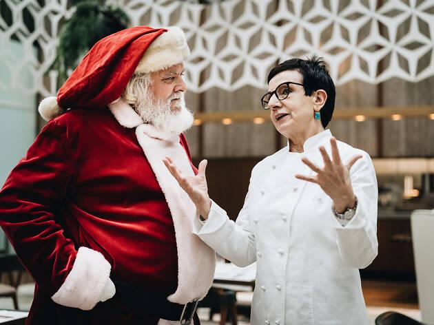 Santa Claus i Carme Ruscalleda