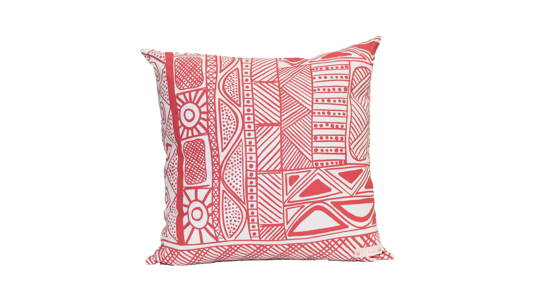 Jilamara Cushion - Patrick Freddy Puruntatameri - Jilamara - Red on Cream