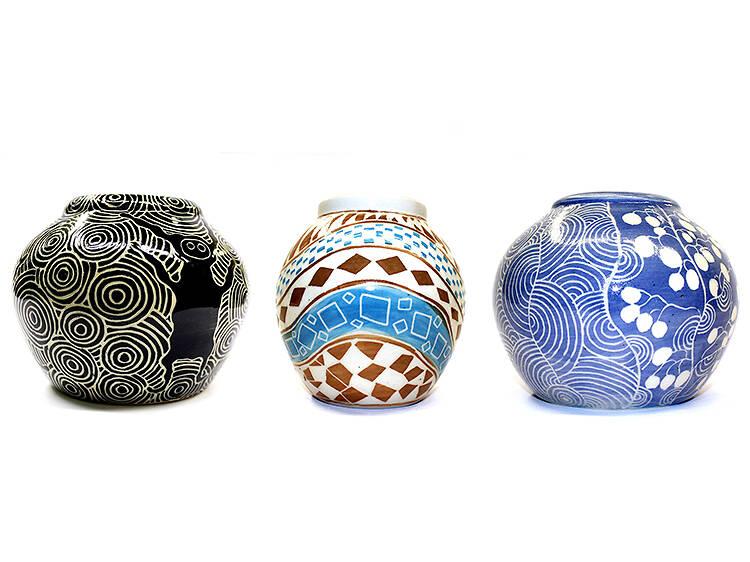Ernabella Arts pottery, $235-$285