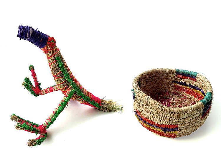 Tjanpi Desert Weavers' baskets, $50-$150