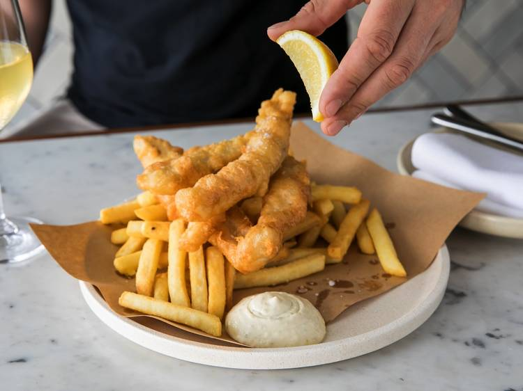 Fish and chips from Fish Butchery