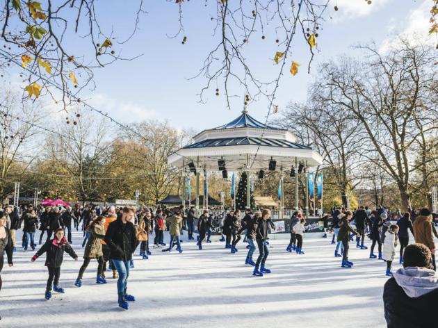 Patinar sobre hielo en Madrid esta Navidad
