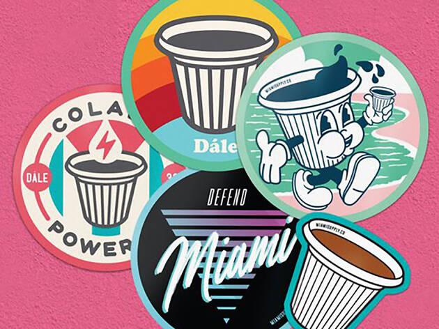 Miami Supply Co. stickers