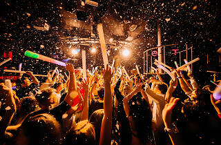 Club party with confetti - generic