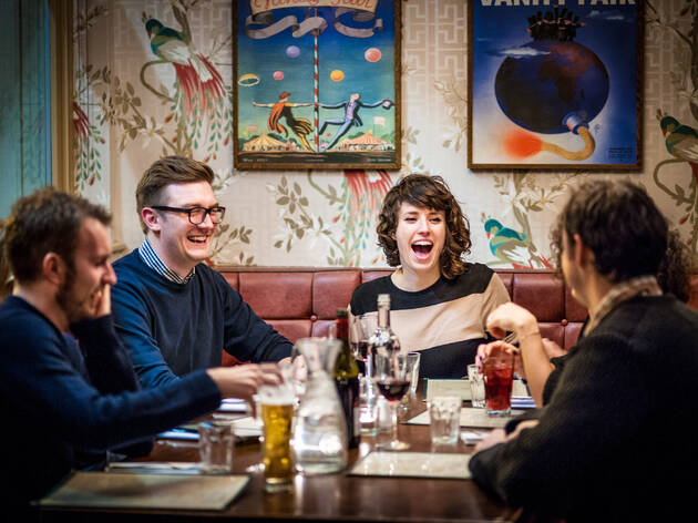 Diners at The Stonhouse in Clapham, London. The pub is part of the Three Cheers Pub Co.