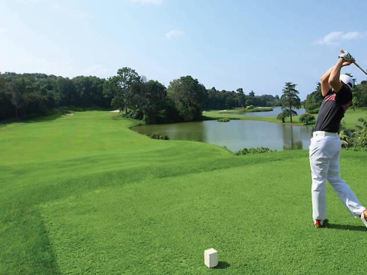 Swing by the Bintan Lagoon Golf Club and Ria Bintan Golf Club