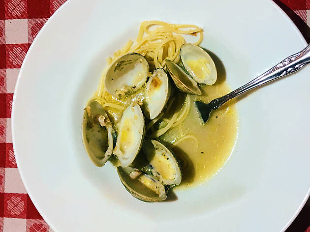 Linguine and clams at Dan Tana's in West Hollywood