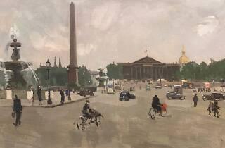 Rafael Durancamps (1891-1979). Place de la Concorde, París