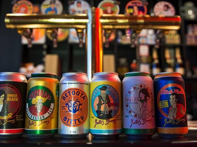 Cans of beer at Yullis Brews