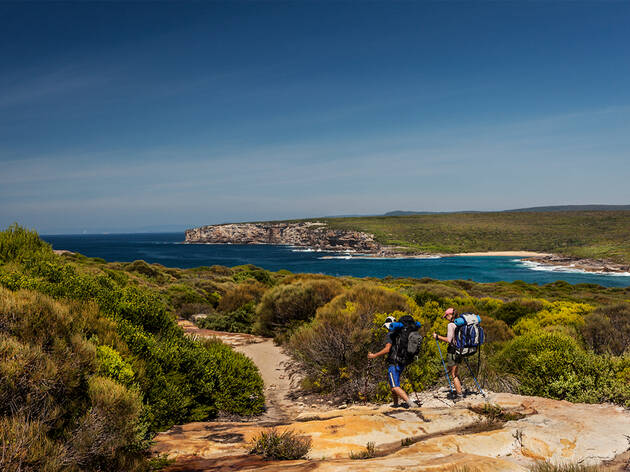 People walking along Coast Track Royal National Park