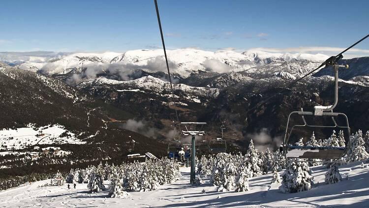 Esquí Alpí a Port del Comte. Solsonès