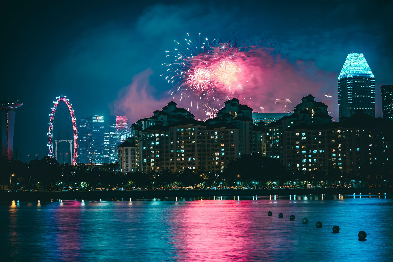 fireworks, singapore