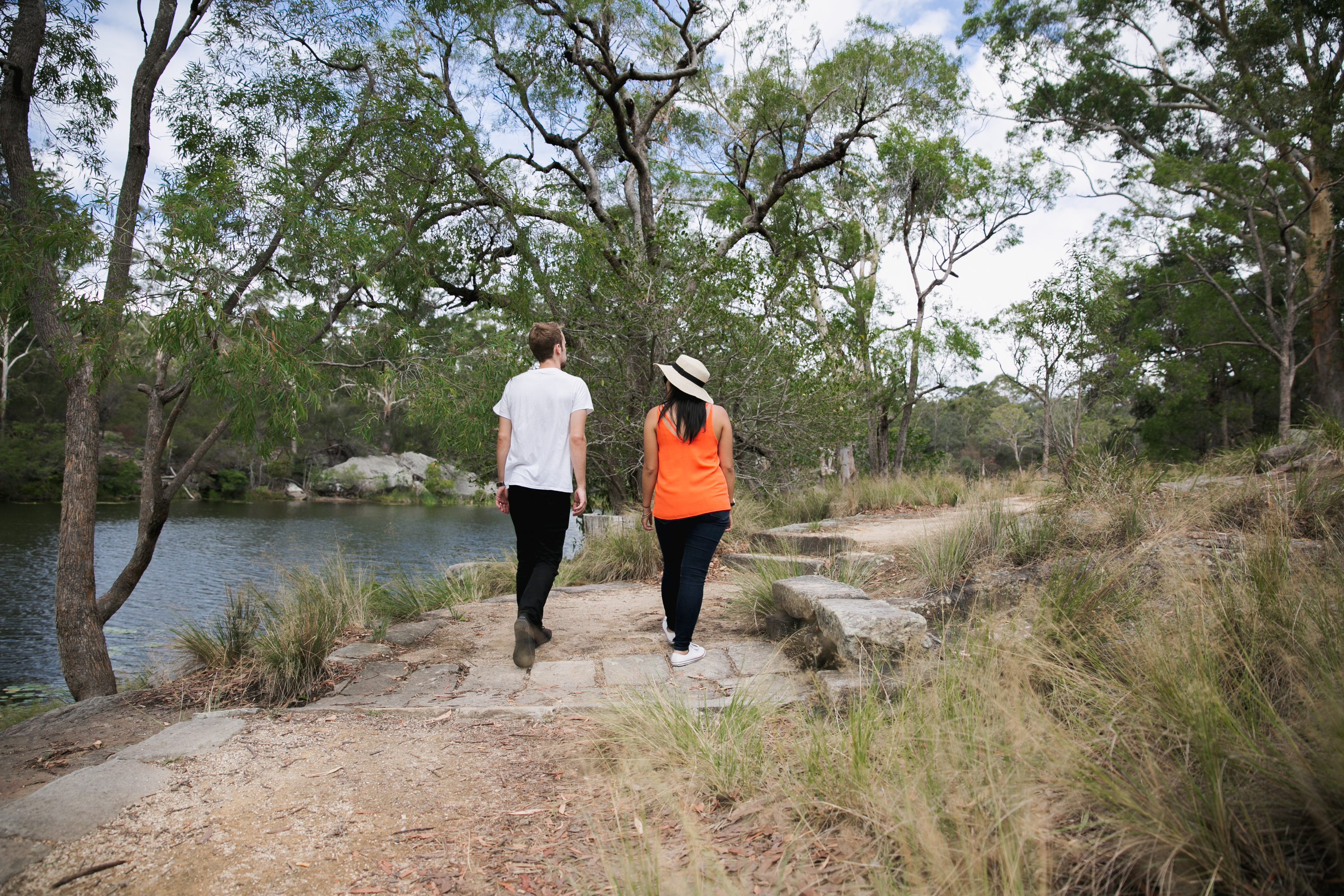 d5243c8c380 A couple walking around Lake Parramatta