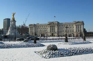 Snow at Buckingham Palace, February 2018