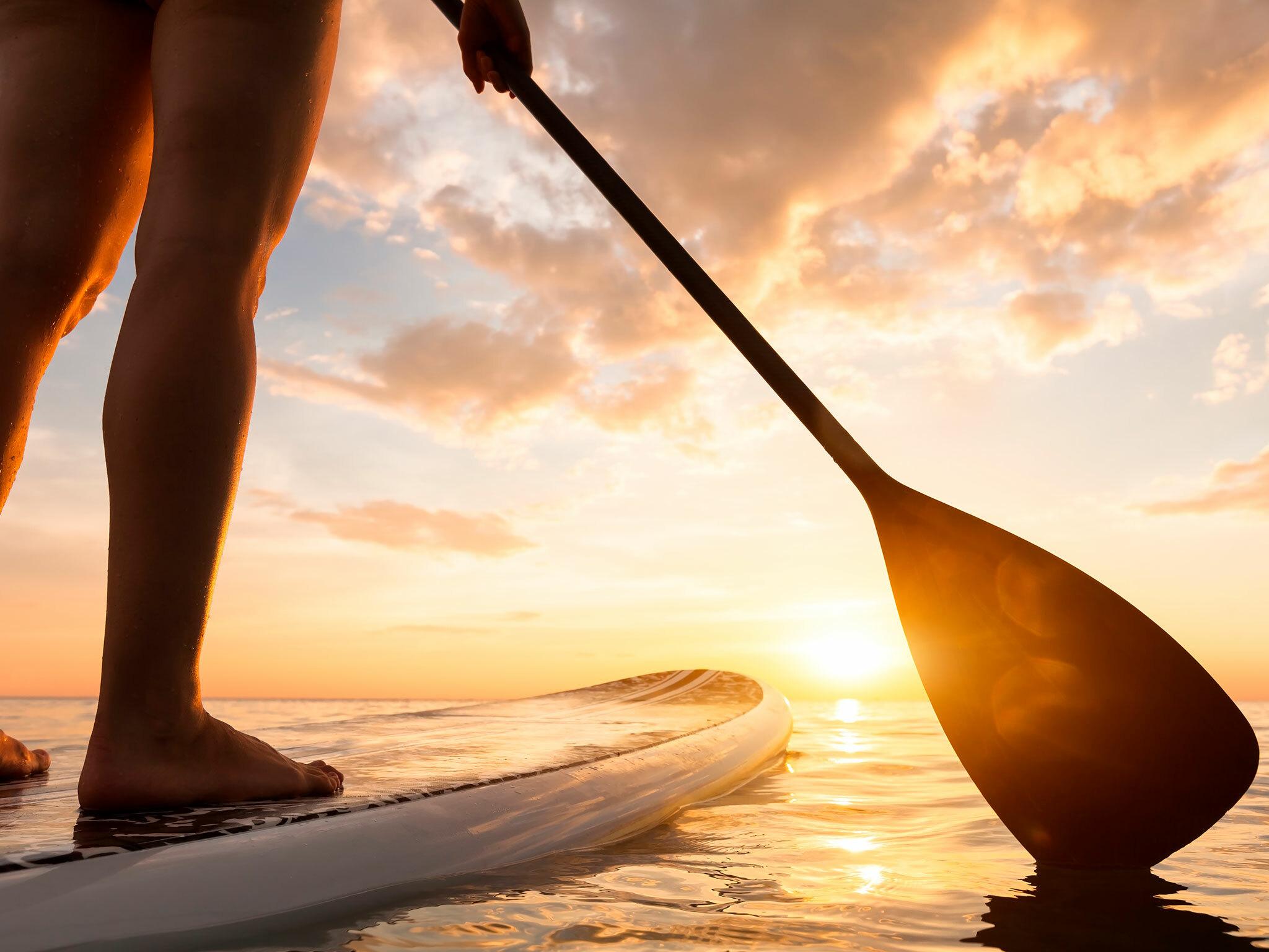 Stand-up paddle boarding at Padang Padang