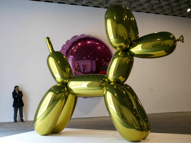 Ballon dog )yellow de Jeff koons llega al Museo Jumex en 2019