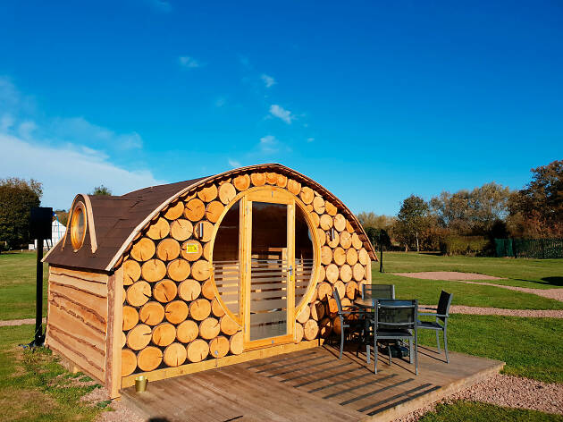 Glamping in Hobbit Huts