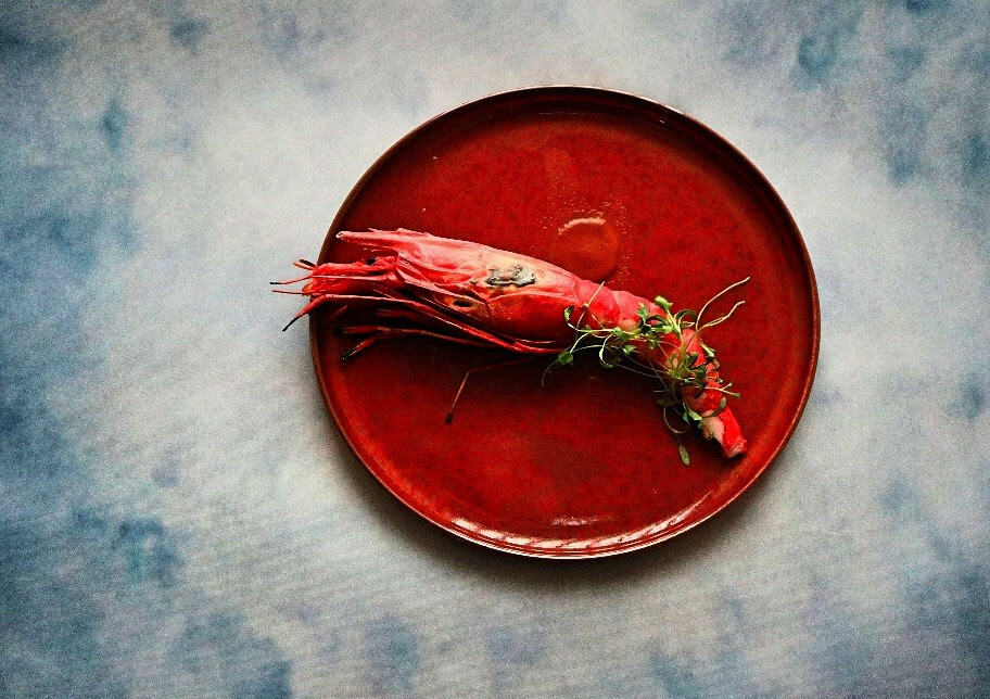 Le Bec Fin - grilled Spanish red king prawns