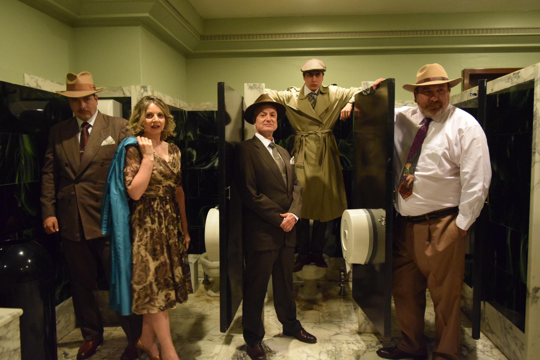 Los baños, obra de teatro en los baños del Palacio de Bellas Artes
