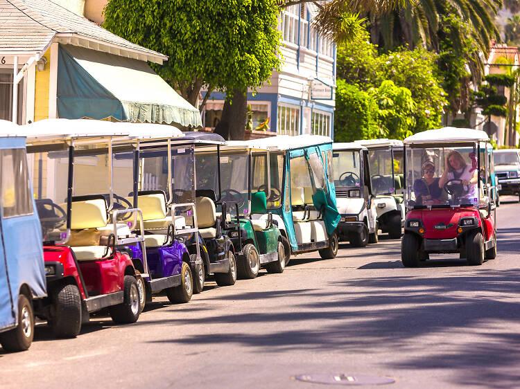 Scoot around in a golf cart rental