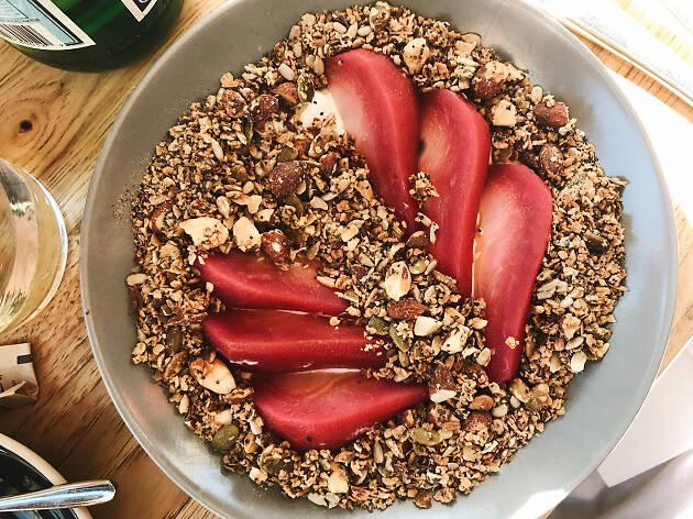 Aussie brekkie granola parfait at Little Ruby in Santa Monica