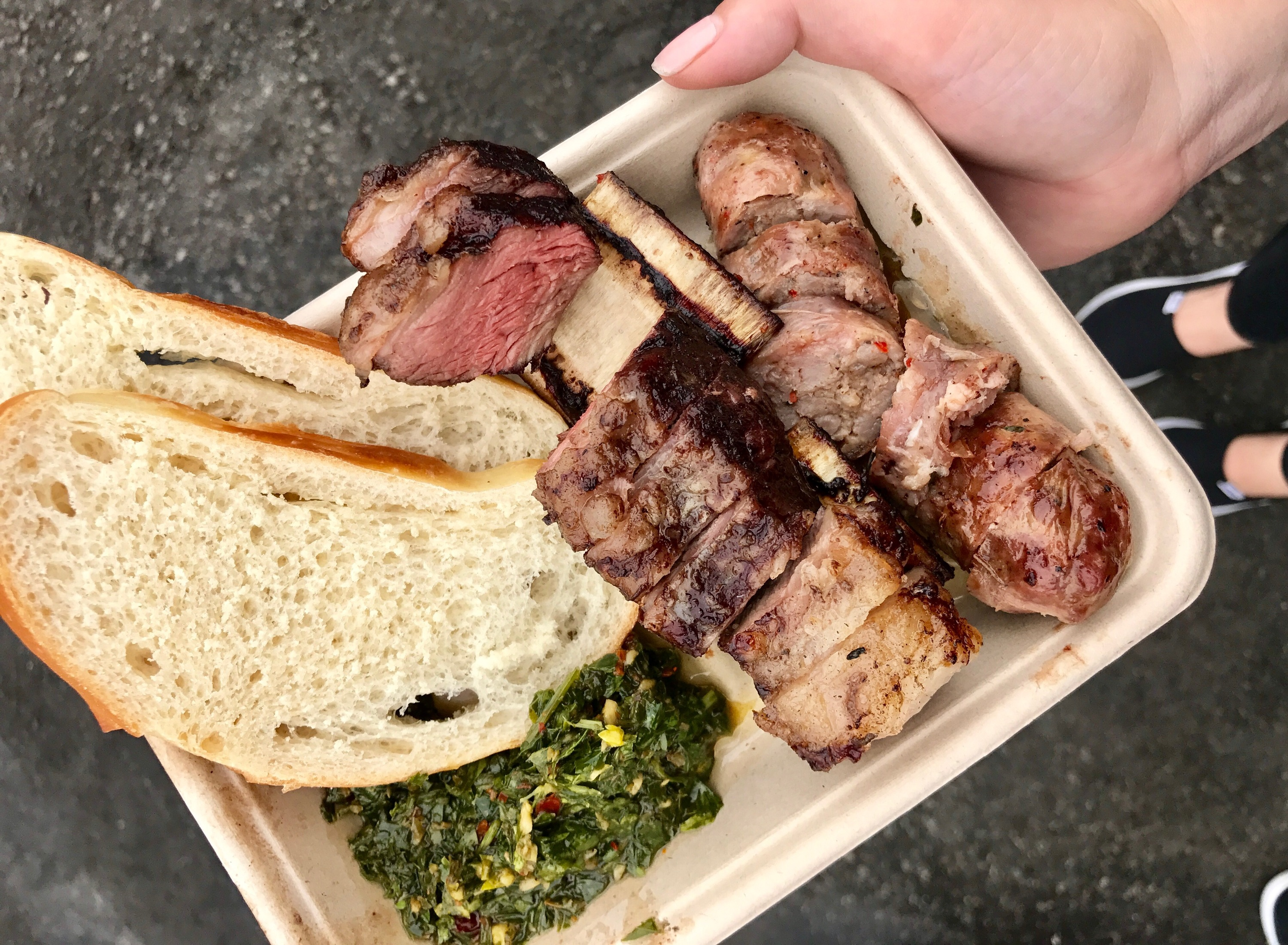 Pablo Kim Argentinian grilled meat at Smorgasburg