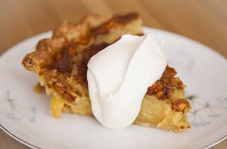 Nicole Rucker honey peanut pie at Fiona Bakery on Fairfax in Los Angeles