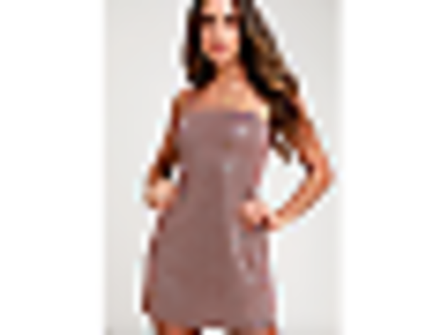 Galaxy Of Glam Mauve Sparkly Mini Dress