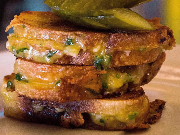 Grilled cheese at Mozza on the late-night menu