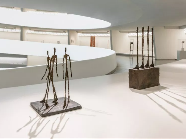 Installation view, Giacometti, Solomon R. Guggenheim Museum, New York, June 8–September 12, 2018