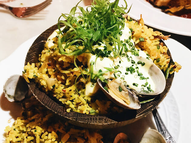 Italian clam fried rice at Viale dei Romani in West Hollywood