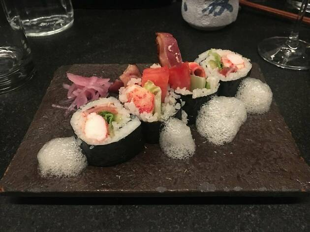 Lobster B.L.T. roll at Uni