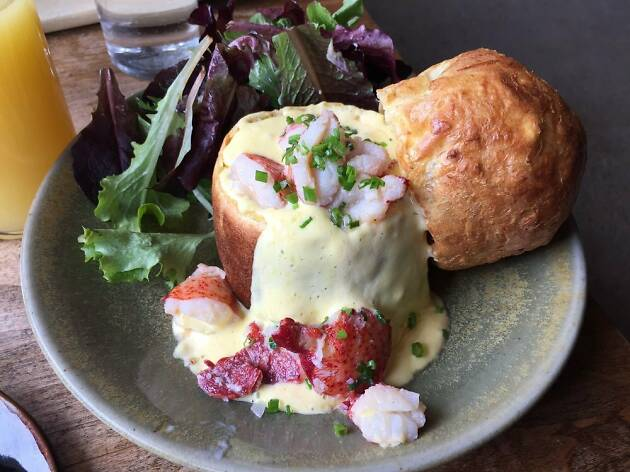 Lobster popover at Loyal Nine