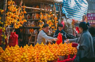 Chinese New Year Flower Market