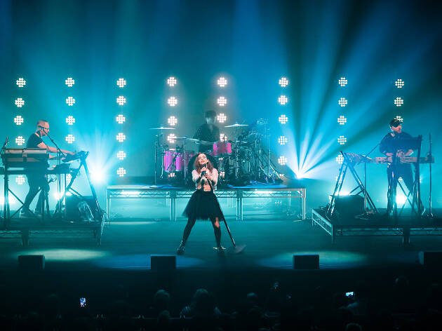 Chvrches on stage at Sydney Opera House January 7, 2019.